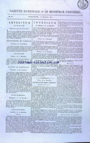 GAZETTE NATIONALE OU LE MONITEUR UNIVERSEL no:357 23/12/1810