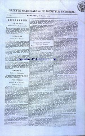 GAZETTE NATIONALE OU LE MONITEUR UNIVERSEL no:360 26/12/1810