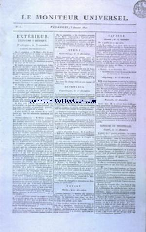 GAZETTE NATIONALE OU LE MONITEUR UNIVERSEL no:3 03/01/1812