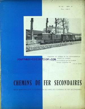 CHEMINS DE FER SECONDAIRES no:63 01/03/1964