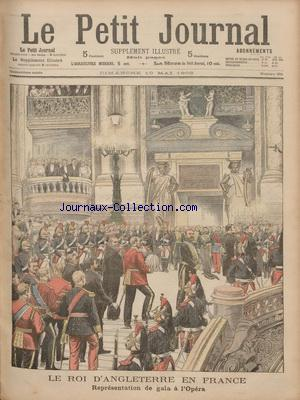 PETIT JOURNAL SUPPLEMENT ILLUSTRE (LE) no:651 10/05/1903
