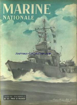 MARINE NATIONALE no:15 01/01/1946