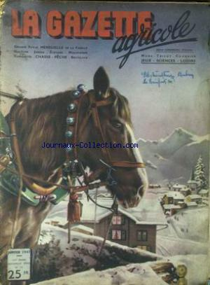 GAZETTE AGRICOLE (LA) no:33 01/01/1947