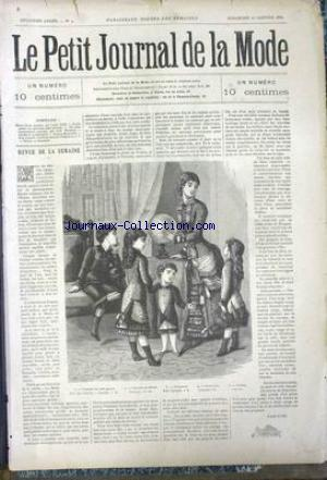 PETIT JOURNAL DE LA MODE (LE) no:4 25/01/1880