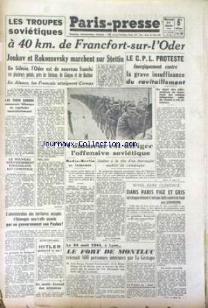 PARIS PRESSE no: 31/01/1945