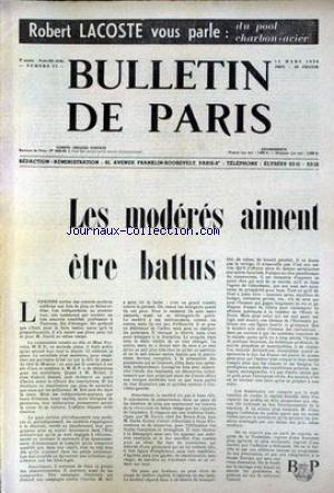 BULLETIN DE PARIS no:22 12/03/1954