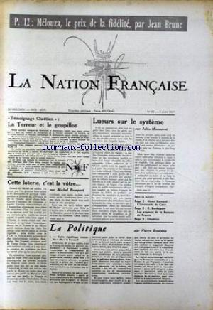 NATION FRANCAISE (LA) no:87 05/06/1957