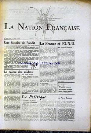 NATION FRANCAISE (LA) no:69 30/01/1957