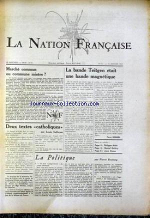 NATION FRANCAISE (LA) no:67 16/01/1957