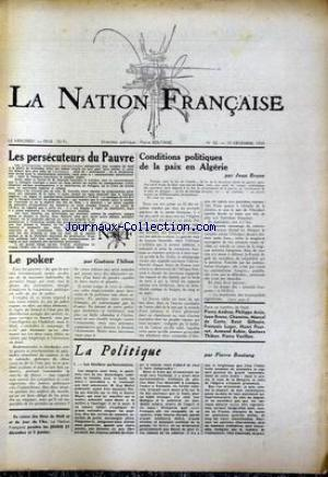 NATION FRANCAISE (LA) no:63 19/12/1956
