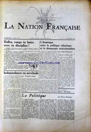 NATION FRANCAISE (LA) no:61 05/12/1956