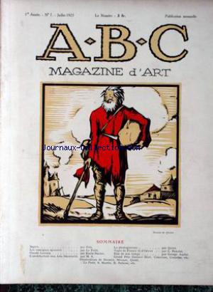 ABC MAGAZINE D'ART no:7 01/07/1925