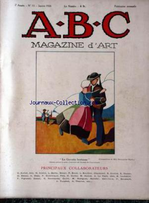 ABC MAGAZINE D'ART no:13 01/01/1926
