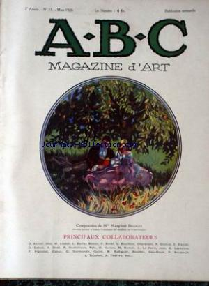 ABC MAGAZINE D'ART no:15 01/03/1926