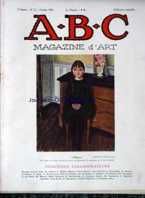 ABC MAGAZINE D'ART no:22 01/10/1926