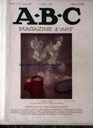ABC MAGAZINE D'ART no:25 01/01/1927