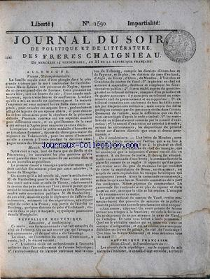 JOURNAL DU SOIR no:1590 06/10/1802