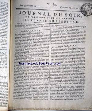 JOURNAL DU SOIR no:1695 19/01/1803