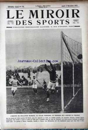 MIROIR DES SPORTS (LE) no:72 17/01/1921