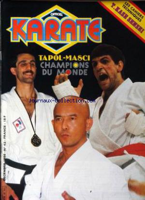 OFFICIEL KARATE no:42 01/12/1986