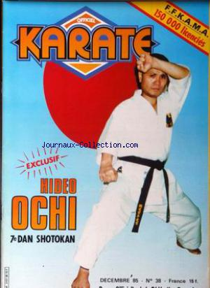 OFFICIEL KARATE no:38 01/12/1985