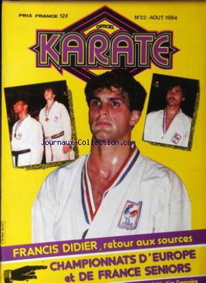 OFFICIEL KARATE no:32 01/08/1984