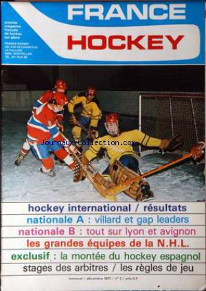 FRANCE HOCKEY no:2 01/12/1977