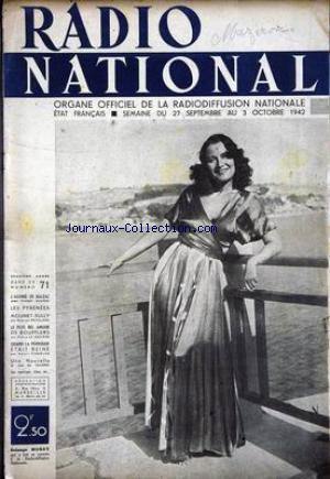 RADIO NATIONAL no:71 27/09/1942