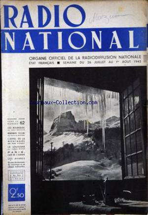 RADIO NATIONAL no:62 26/07/1942