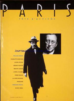 PARIS TETE D'AFFICHE no:13 15/01/1989