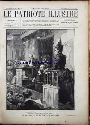 PATRIOTE ILLUSTRE (LE) no:25 21/06/1891