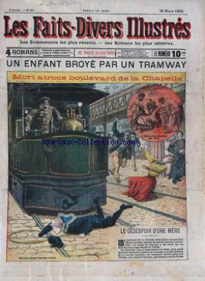 FAITS DIVERS ILLUSTRES (LES) no:21 15/03/1906