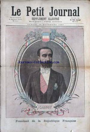 PETIT JOURNAL SUPPLEMENT ILLUSTRE (LE) no:1 29/11/1890