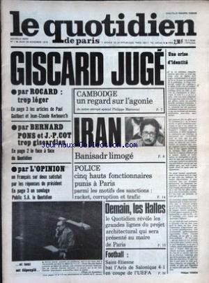 QUOTIDIEN DE PARIS (LE) no:1 29/09/1979