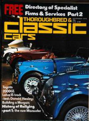 THOROUGHBRED AND CLASSIC CARS no: 01/11/1975