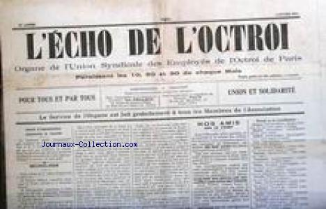 ECHO DE L'OCTROI no: 01/01/1915