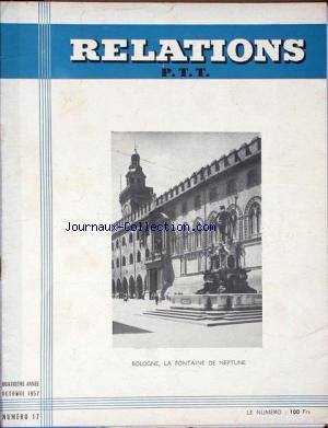 RELATIONS P.T.T. no:17 01/10/1957