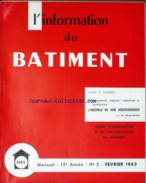 INFORMATION DU BATIMENT (L') no:2 01/02/1963