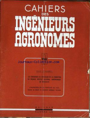 CAHIERS DES INGENIEURS AGRONOMES no:46 01/05/1949