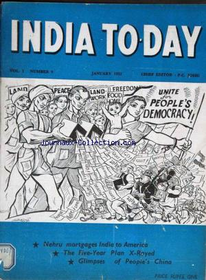 INDIA TO DAY no:9 01/01/1952