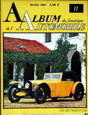 ALBUM DU FANATIQUE DE L'AUTOMOBILE no:11 01/02/1969