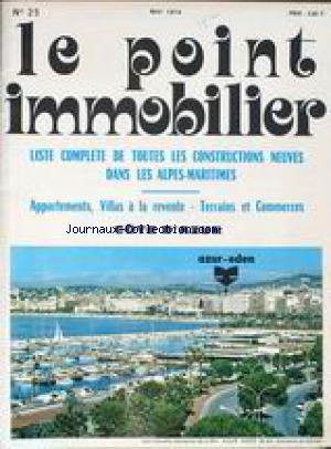 POINT IMMOBILIER (LE) no:25 01/05/1974