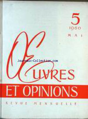 OEUVRES ET OPINIONS no:5 01/05/1960