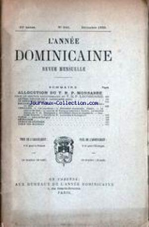 ANNEE DOMINICAINE (L') no:246 01/12/1880