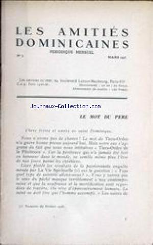 AMITIES DOMINICAINES (LES) no:3 01/03/1946