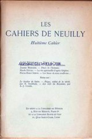 CAHIERS DE NEUILLY (LES) no:8