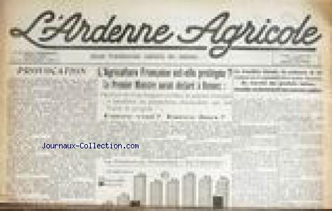ARDENNE AGRICOLE (L') no:366 15/03/1960