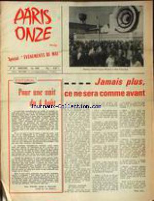 PARIS ONZE no:37 01/06/1968