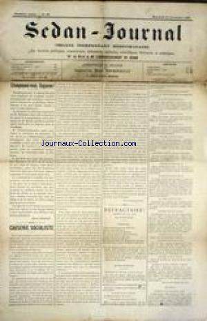 SEDAN -JOURNAL no:33 14/11/1900