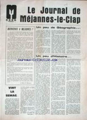 JOURNAL DE MEJANNES LE CLAP (LE) no: